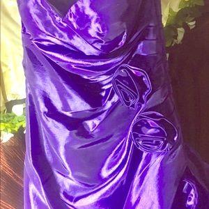 Tafetta strapless gown